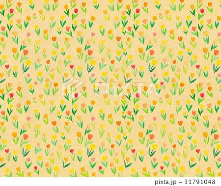 背景素材 水彩 花柄 チューリップ 31791048