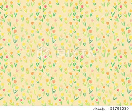 背景素材 水彩 花柄 チューリップ 31791050