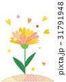 ポストカード ハート 花のイラスト 31791948