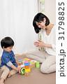 積木をする女性と子供 31798825