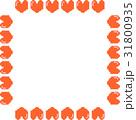 ドットハート枠正方形 31800935
