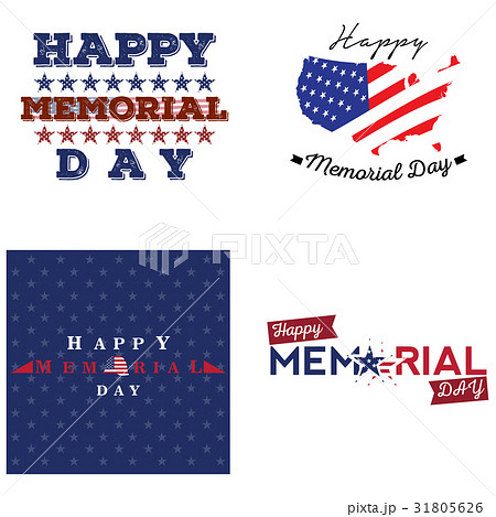 Set of memorial day labelsのイラスト素材 [31805626] - PIXTA