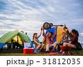 キャンプ 野営 女性の写真 31812035