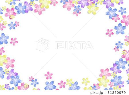 花柄【和風背景・シリーズ】 31820079