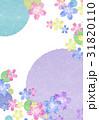 花 背景 和紙のイラスト 31820110