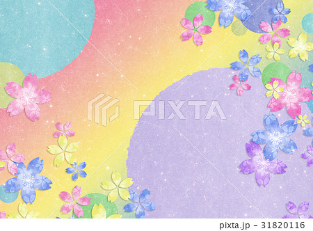 花 和紙【和風背景・シリーズ】 31820116