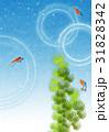 金魚と水草【和風背景・シリーズ】 31828342