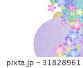 花 背景 和紙のイラスト 31828961