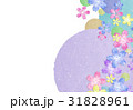花 和紙【和風背景・シリーズ】 31828961