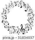 ミュージック 譜面 音楽のイラスト 31834037