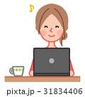 女性 人物 パソコンのイラスト 31834406