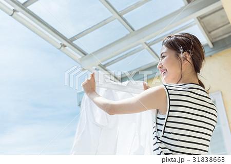 若い女性、洗濯 31838663