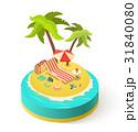 島 浮かぶ島 夏のイラスト 31840080