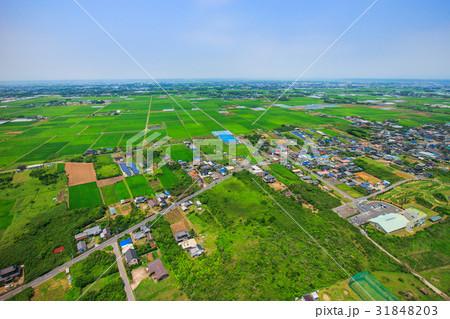 千葉県旭市中谷里付近を空撮 31848203