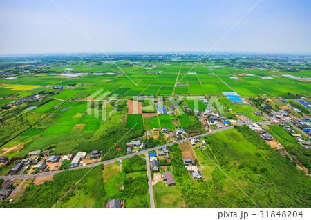千葉県旭市中谷里付近を空撮 31848204
