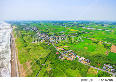 千葉県旭市中谷里付近を空撮 31848206