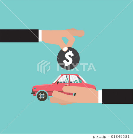 car for vehicle sales agreement vectorのイラスト素材 31849581 pixta