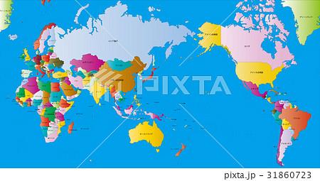 世界の国々色分け名称 31860723