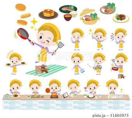 blond hair boy cooking 31860973