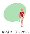 サッカー フットボール 蹴球のイラスト 31869586
