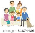 家族 三世代 ファミリーのイラスト 31874486