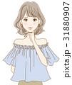 若い女性(ブルー) 31880907