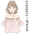 若い女性(ピンク) 31880910