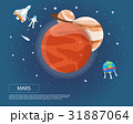 Mars Jupiter and Saturn of solar system  31887064