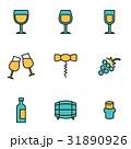 ぶどう酒 ワイン 葡萄酒のイラスト 31890926
