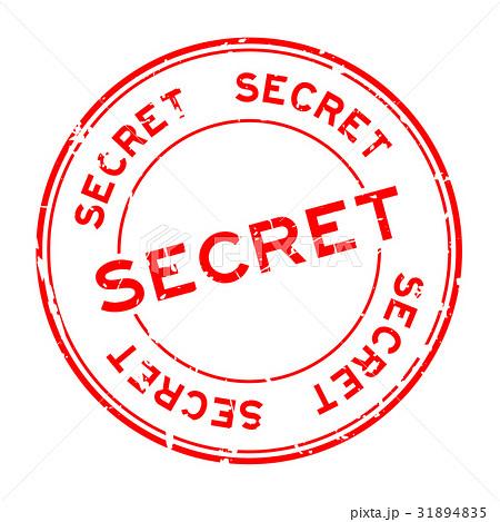Grunge red secret round rubber seal stamp 31894835