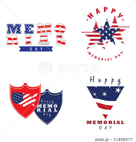 Memorial day emblemsのイラスト素材 [31896077] - PIXTA
