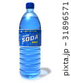 Refreshing soda drink in plastic bottle 31896571