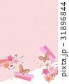 蝶と和柄【和風背景・シリーズ】 31896844