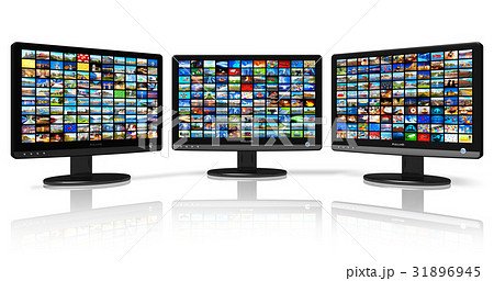 Multiple monitors with image gallery 31896945