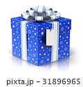 Gift or present box with ribbon bow and label tag 31896965