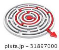 迷宮 矢印 円のイラスト 31897000