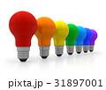 レインボー 虹 電球のイラスト 31897001