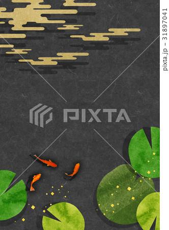 金魚【和風背景・シリーズ】 31897041