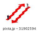 階段 失敗 成功のイラスト 31902594