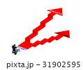 階段 失敗 成功のイラスト 31902595