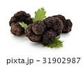 Black truffles and oak leaves. 31902987