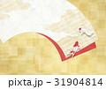 扇 金箔 背景のイラスト 31904814