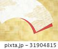 和を感じる背景素材(扇、金箔、市松模様) 31904815