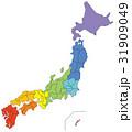 日本地図 日本 地図のイラスト 31909049