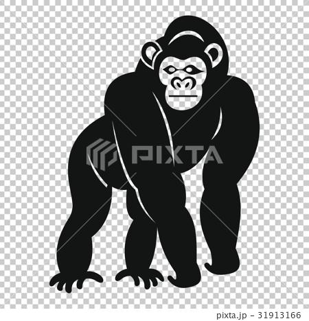 Bonobo icon, simple style 31913166