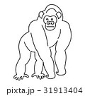 Monkey icon, outline 31913404