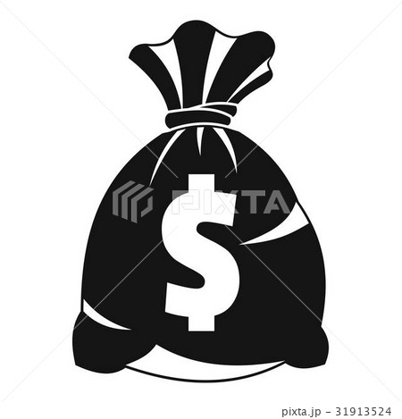 Money bag with US dollar sign icon, simple style 31913524