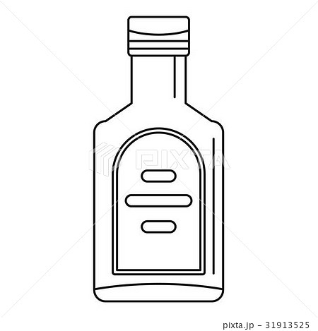 Bottle of whiskey icon, outline style 31913525