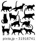 Vector silhouettes of cats in various poses  31916741
