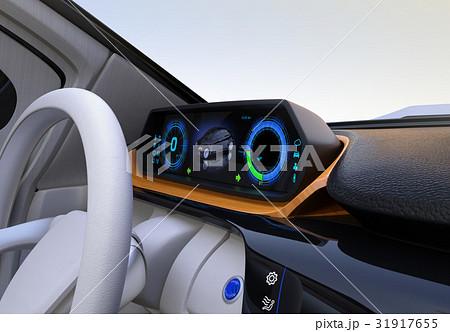 自動運転EV車のダッシュボードのイメージ 31917655